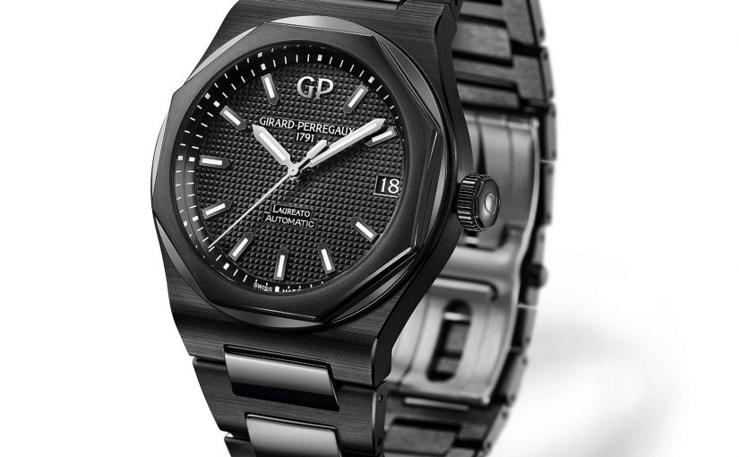 Girard-Perregaux Laureato 42mm Black Ceramic Materials Replica Watches UK