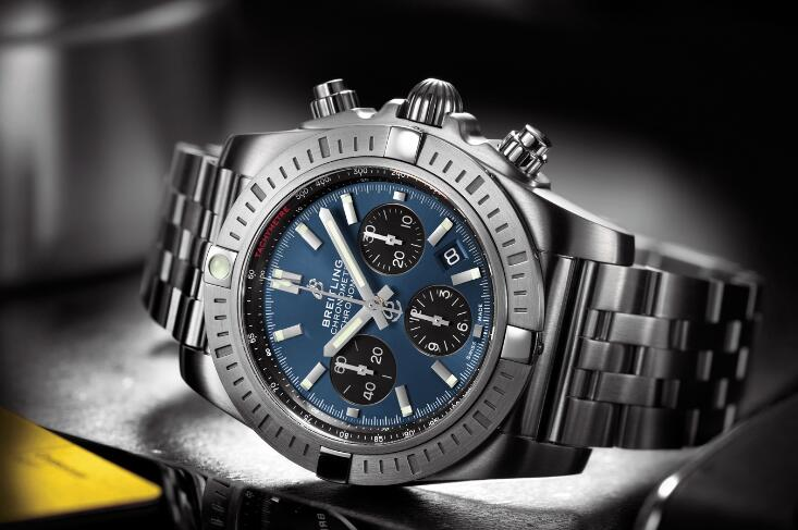 UK Breitling Chronomat B01 Chronograph Replica Watches With Blue Dials Appealing To All Explorers