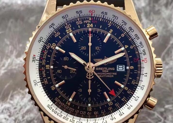 Classic UK Breitling Navitimer Chronograph Replica Watches With Black Dials