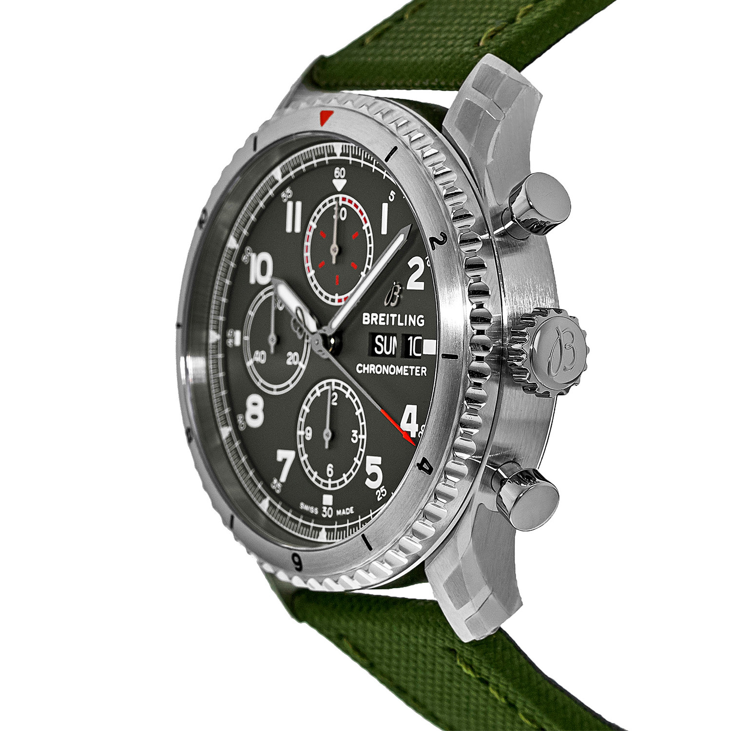 The attractive copy watches have green dials.